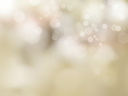 Beige background with soft blurred bokeh lights Stockfoto