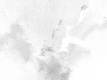 White gray background with soft watercolor texture Standard-Bild