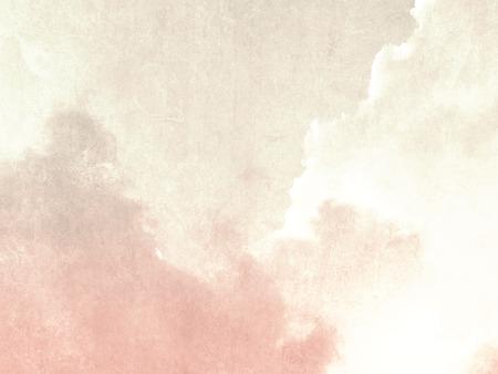 Zachte hemel achtergrond beige roze in langzaam verdwenen vintage stijl Stockfoto