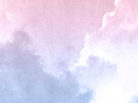 ヴィンテージのパステル水彩で紫ピンク朝空の背景