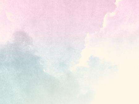 Vintage sky pink green in pale pastel watercolor
