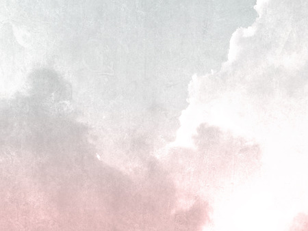 gray: Gray pink sky background vintage in soft watercolor Stock Photo