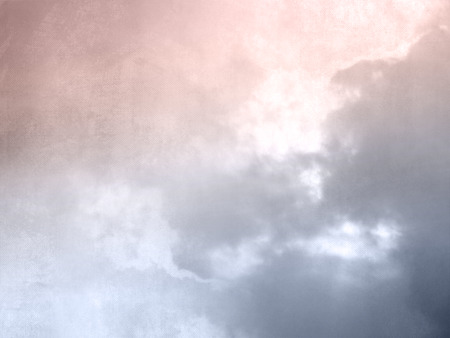 Retro sky background with clouds at twilight Banque d'images