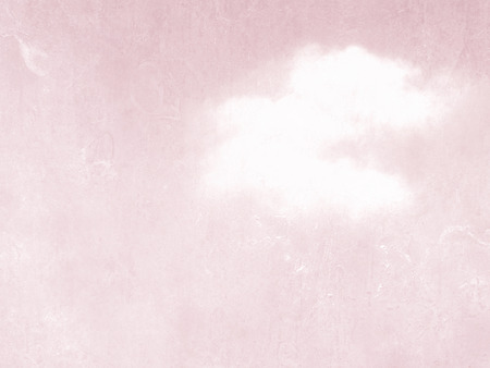 art background: Pink background vintage with single cloud - soft retro sky texture