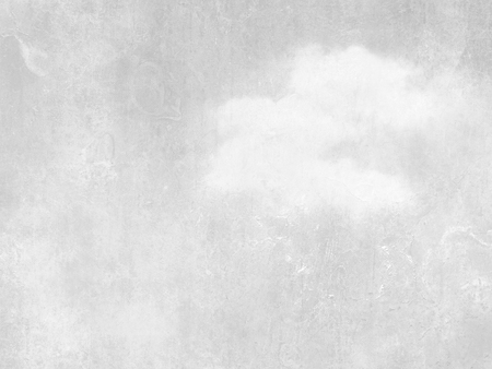 Gray sky background with single white cloud - abstract soft retro design