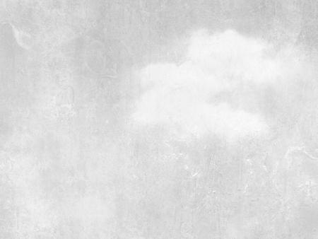Grijze hemel achtergrond met enkele witte wolken - abstracte zachte retro design