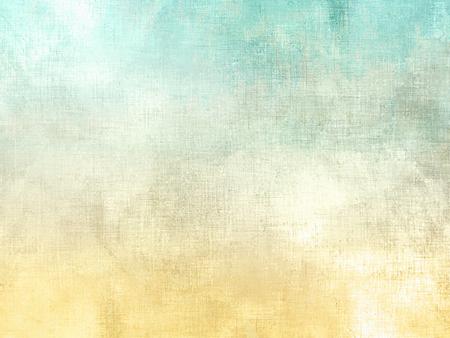 Akwarela tekstury w miękkim stylu retro - abstrakcyjny charakter wiosny tła z żółtym zielonym gradientem Zdjęcie Seryjne