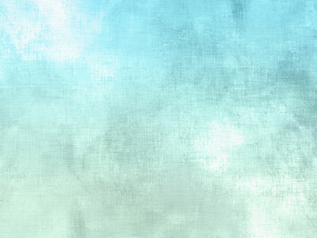 faded: Blue green watercolor background pastel - abstract soft sky texture with clouds