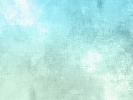 Niebieski zielone tło akwarela pastel - abstrakcyjne tekstury miękka niebo z chmurami