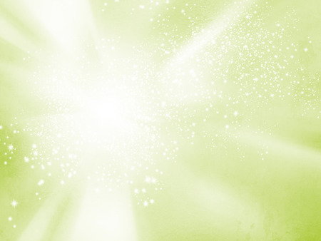 Abstract spring background - soft green starburst - vitality concept