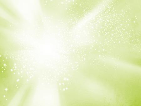 Estratto primavera sfondo - morbido starburst verde - concetto di vitalità