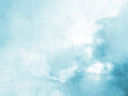 Blurred sky background in soft blue watercolor Stockfoto