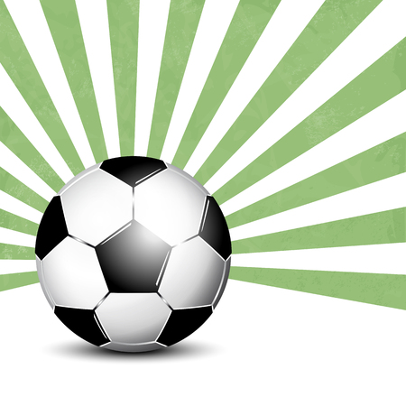 footie: Soccer ball background with rays Illustration