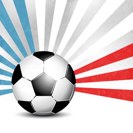 footie: Soccer ball background with rays in abstract French flag colors