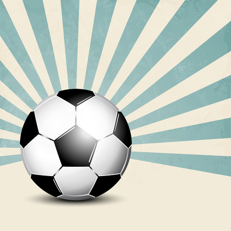 footie: Football background with retro rays