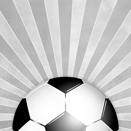 footie: Soccer ball background black white with gray rays