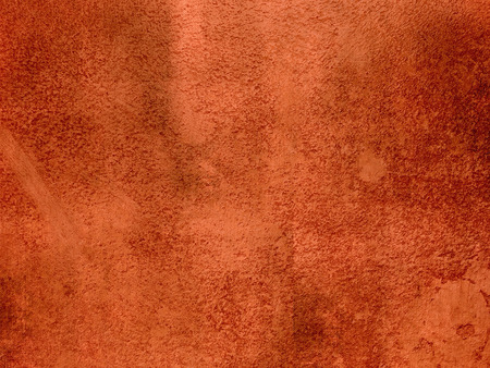 rust red: Rust orange red background abstract - dark terracotta plaster wall texture