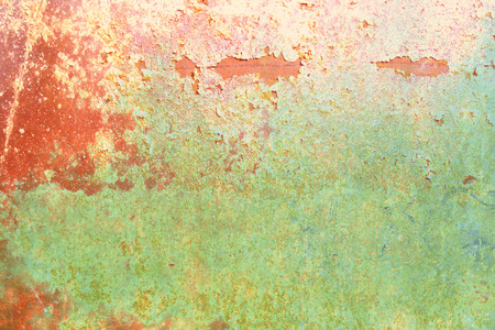 chipped paint: Grunge wall texture red green with chipped paint