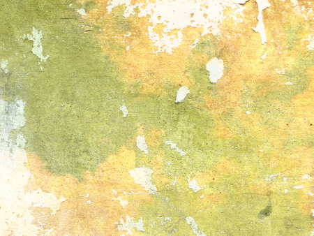 chipped: Green yellow background wall grunge