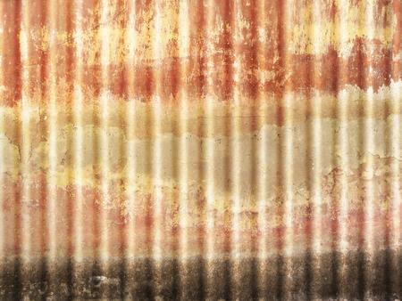 metal sheet: Corrugated sheet - rusty metal texture grunge