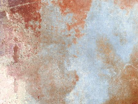 aluminium: Rusty metal texture - abstract industrial blue orange grunge background