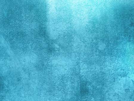 plaster wall: Blue background abstract - cyan painted plaster wall texture with shiny light Stock Photo
