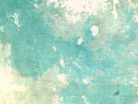 chipped: Turquoise background in grunge style