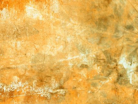 Fondo amarillo del grunge - textura abstracta de los colores del otoño