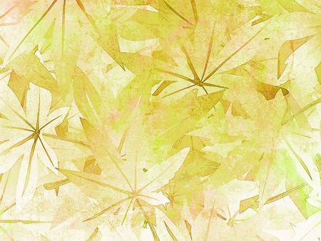 nervure: Leaves background in green - soft vintage nature pattern