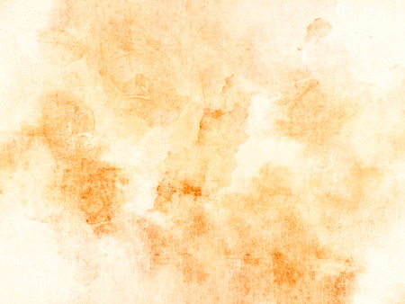 soiled: Orange yellow background - soft watercolor texture - abstract coffee stains