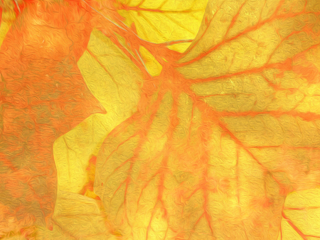 nervure: Fall leaves background with soft oil paint filter - abstract autumn design