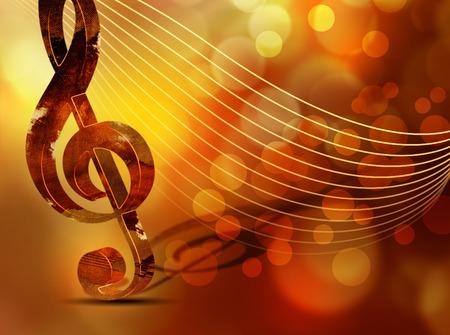 클래식 음악 배경 - 고음 음자리표와 예술적 콘서트 포스터