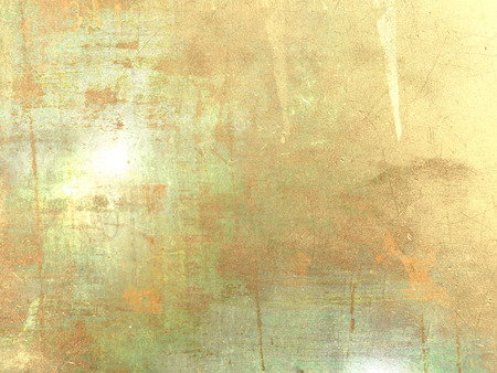 Gold grunge wall texture - abstract patina background Stock Photo