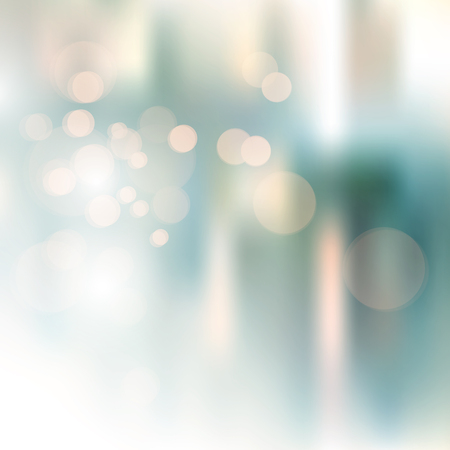 Blurred bokeh background in soft retro colors - abstract city lights Illustration