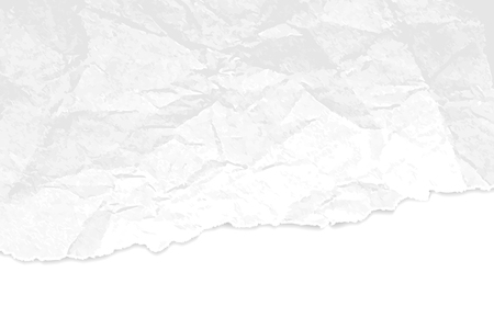 Crumpled paper texture with torn edges - abstract white grey background