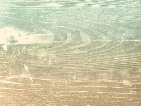 Retro wood background with soft beige green grain texture Banco de Imagens
