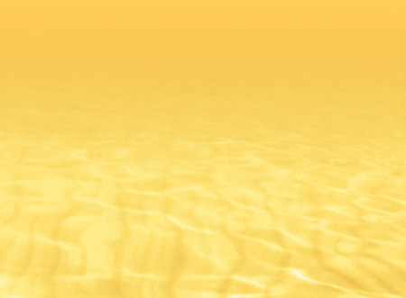 Yellow water background with blurred ripples in soft watercolor