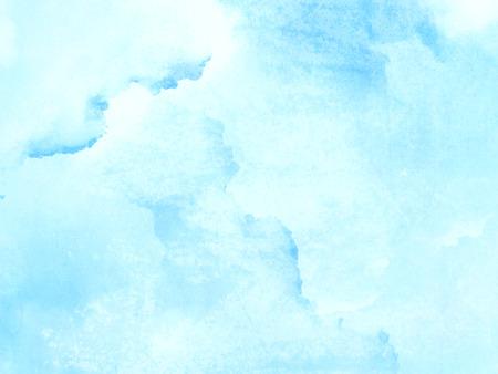 Hellblauer Aquarellhintergrund - abstrakte blasse Textur