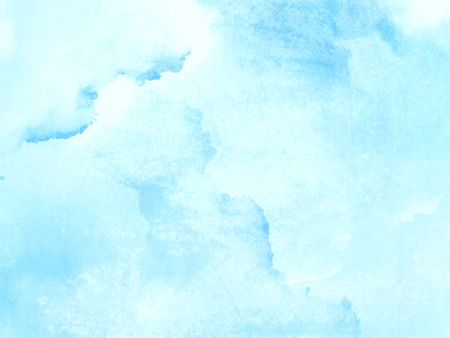 Light blue watercolor background - abstract paled texture Stock Photo