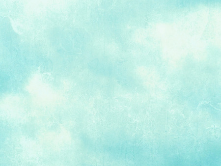 Blue green watercolor background - abstract pastel sky texture Stock Photo