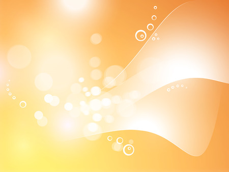 Abstract yellow orange background with bokeh lights