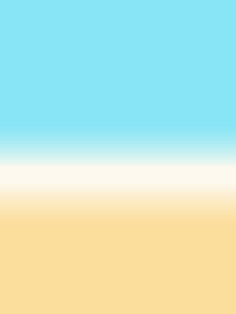 Gradient background blue yellow - abstract simple beach scene 일러스트