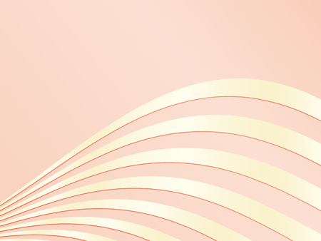 Elegant soft pink background template with gold curved lines Çizim