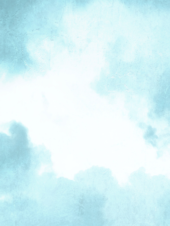 Light blue watercolor background - abstract blurred sky texture
