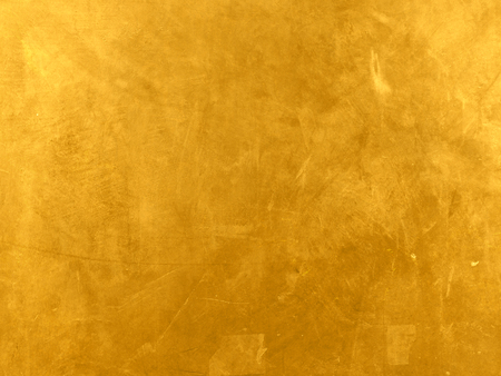 Gold polished metal background with grunge texture