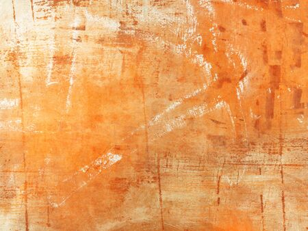 Orange grunge background texture - abstract modern art painting digitally created Archivio Fotografico - 128872431