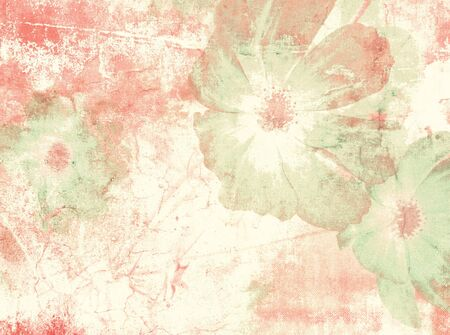 Flower background in pastel vintage watercolor style