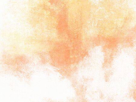 Watercolor background in soft pastel yellow orange colors fading to white Stok Fotoğraf