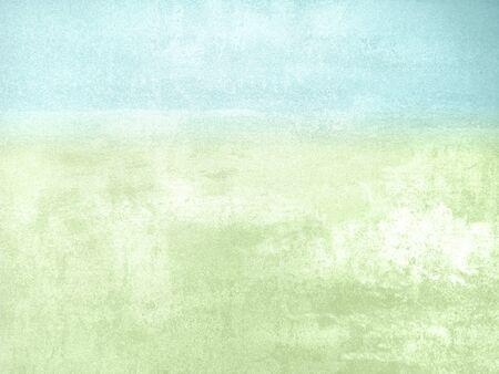 Blauw groene aquarel achtergrond - abstracte natuurlijke pastel lente landschap