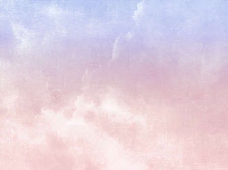 Abstract retro sky background in pastel pink purple watercolors